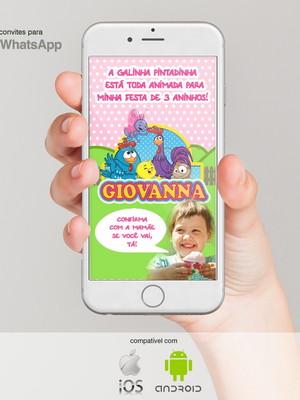 Convite de Aniversário para Whatsapp - Galinha Pintadinha