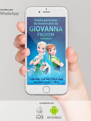 Convite de Aniversário para Whatsapp - Frozen