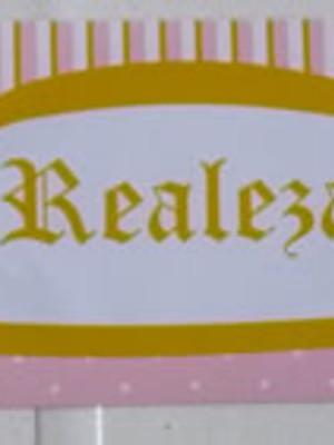 Adesivo Rótulo 18x4cm Coroa Rosa Realeza (10 adesivos)