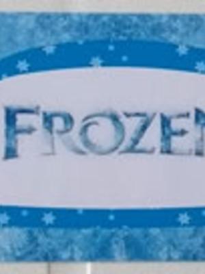 Adesivo Rótulo 18x4cm Frozen (10 adesivos)