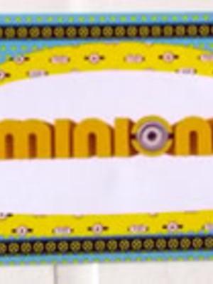 Adesivo Rótulo 18x4cm Minions (10 adesivos)