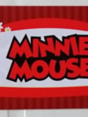 Adesivo Rótulo 18x4cm Minnie Vermelha (10 adesivos)