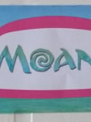 Adesivo Rótulo 18x4cm Moana (10 adesivos)