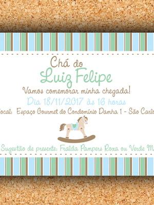 Convite Cavalinho Verde e Azul - digital