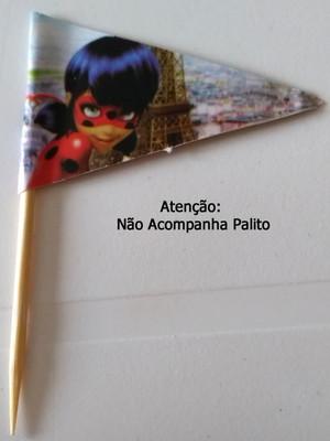 Topper Tag Bandeirinha Ladybug (30 unid.)