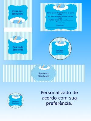 Kit Festa Impressa e personalizada - chá de bebê
