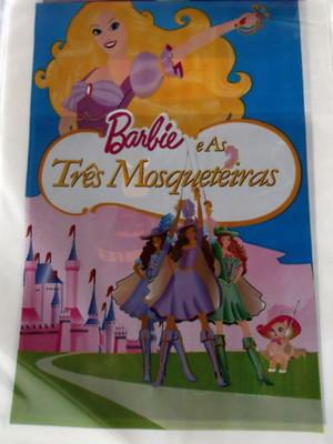 Sacola Plastica Barbie Três Mosqueteiras (10 unidades)