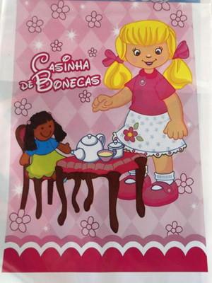 Sacola Plastica Casinha Bonecas (10 unidades)