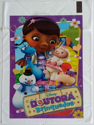 Sacola Plastica Doutora Brinquedos (10 unidades)