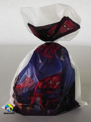 Sacola Plastica Homem Aranha (10 unidades)