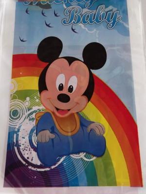 Sacola Plastica Mickey Baby Arcos Iris (10 unidades)