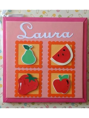 Álbum bebê personalizado frutinhas menina saudável fit scrap