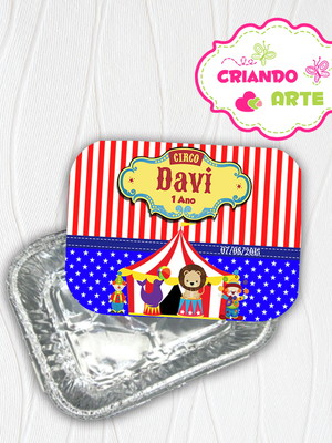 Marmitinha Personalizada Circo