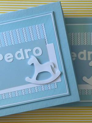 caderno mensagens e caixa chá e maternidade cavalo pau