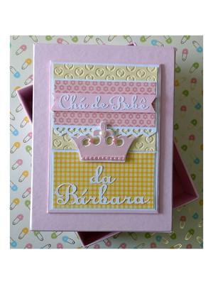 Álbum com caixa para Chá de Bebê menina princesa scrapbook