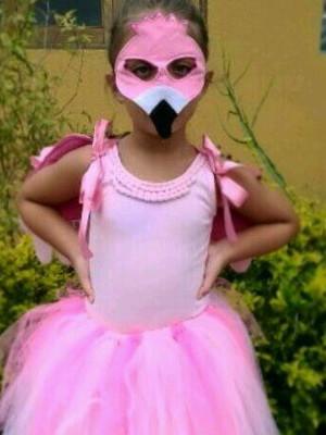 Fantasia de Flamingo com Asas