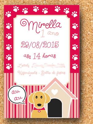 Arte Convite Cachorrinho (digital)