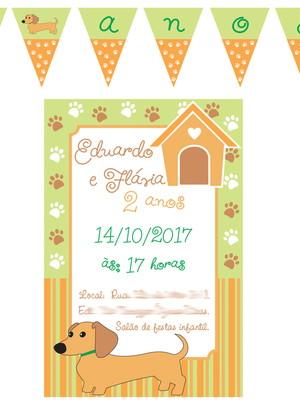 Kit festa Cachorrinho Basset- digital