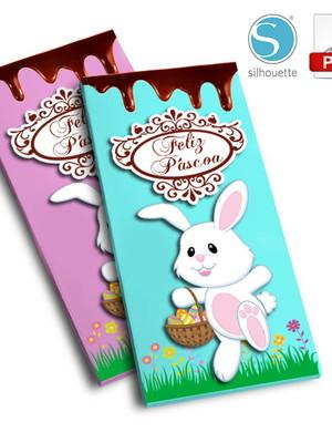 Arquivo de Corte Caixa Barra de chocolate Páscoa
