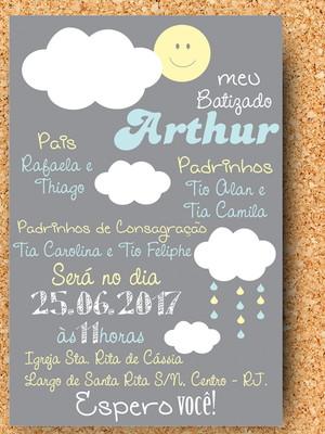 Convite Batizado Chuva (digital)