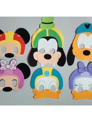 Máscaras Infantil Turma do Mickey Aventuras sobre rodas EVA.