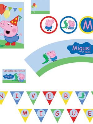 Kit festa Peppa George Pig - digital