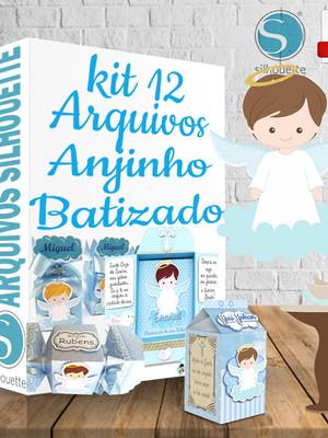 Kit arquivos de corte Anjinho Batizado