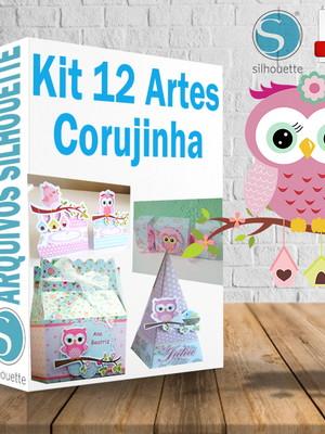 Kit arquivos de corte Corujinha