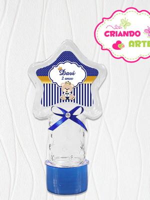 Tubete Estrela Personalizado Ursinho Marrom