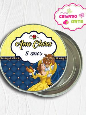 Latinha Personalizada A Bela e a Fera
