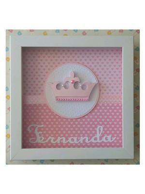 enfeite quadro porta maternidade menina princesa scrapbook