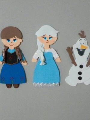 Apliques de EVA 10 cm para tubetes tema Frozen.