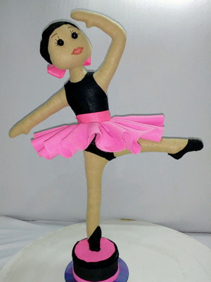 Bailarina de feltro Decorativa