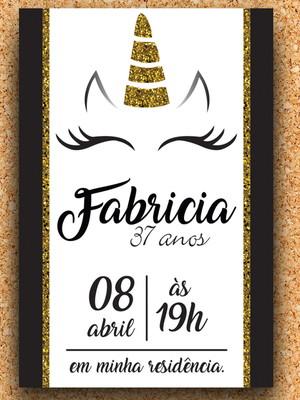 Convite Festa Unicórnio - digital