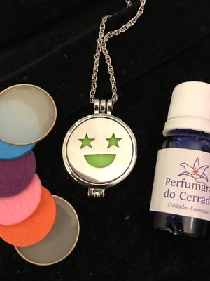 Perfume aromático 10ml com Colar difusor Sorria