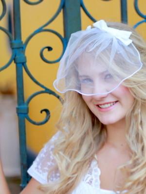 Voilette Blush Laço Chanel - Branco
