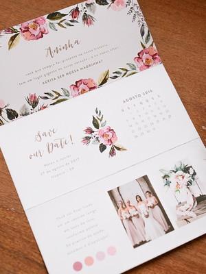 Convite Sanfona - Madrinha Floral I