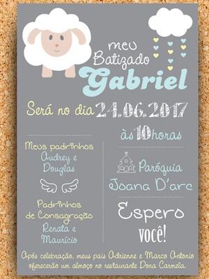 Convite Batizado Ovelhinha - digital