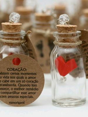 Chaveiro de vidrinho com coração