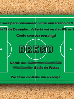 Convite Aniversário Campo de Futebol - digital
