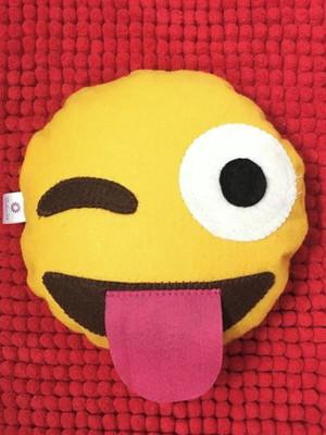 Pesinho para porta em feltro emoji divertido *