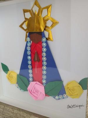Quadro de origami Nossa Senhora
