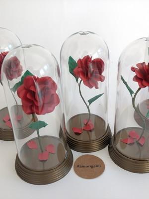{Kit} 30 Rosas Encantada M - A Bela e a Fera