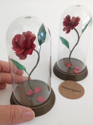Rosa Encantada P 11cm - A Bela e a Fera