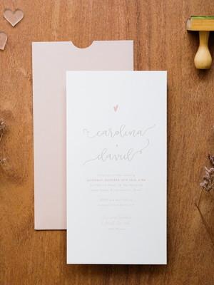 Convite Casamento Rose Carol e David