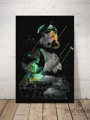 Quadro decorativo PVC - 25x35 cm - Stormtrooper Star Wars