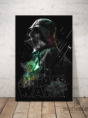 Quadro decorativo PVC - 25x35 cm - Darth Vader Star Wars