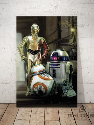 Quadro decorativo PVC - 25x35 cm - Droids Star Wars