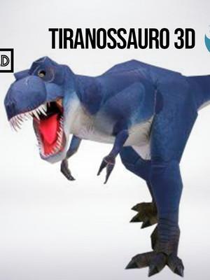 Arquivo de corte Tiranossauro 3D Silhouette e PDF
