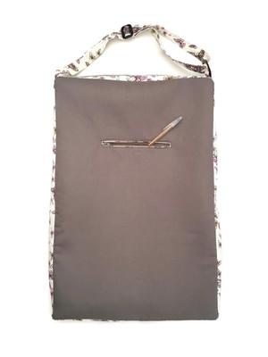 bolsa retangular com bolso e alça regulável 60x40x7cm *
